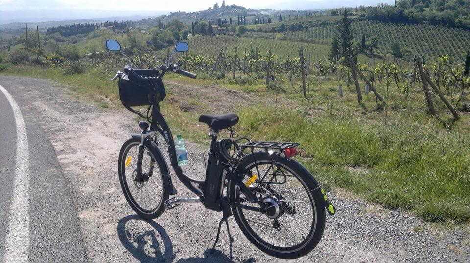 Elsa San Gimignano bici elettrica fx 26