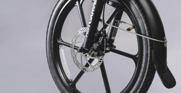 bici pieghevole pedalata assistita freni a disco