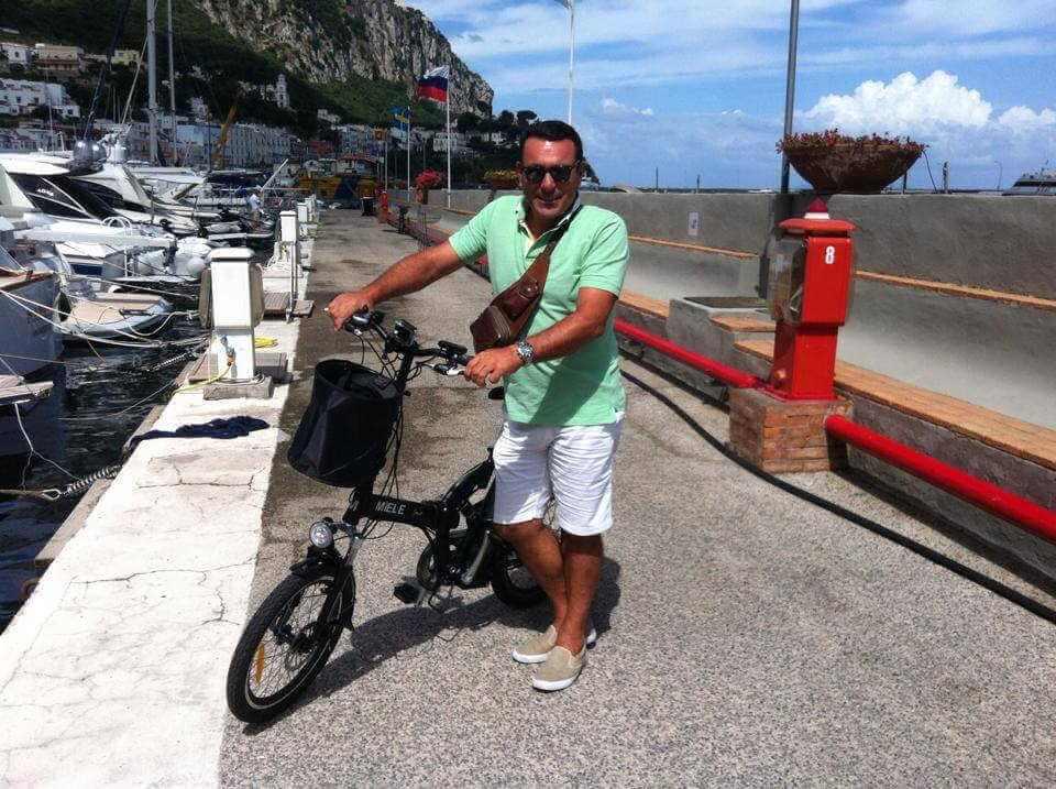 Claudio capri bici elettrica