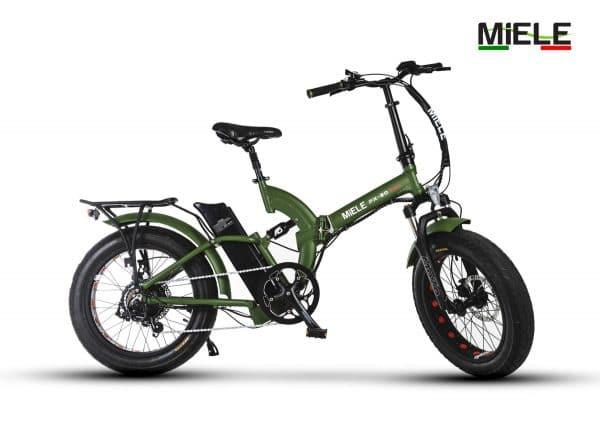 bici elettrica pieghevole verde