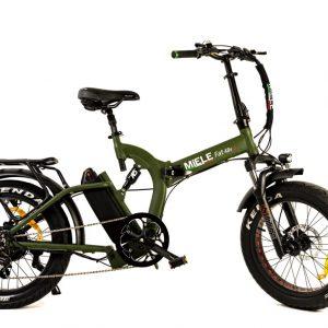 fat bike elettrica pieghevole verde