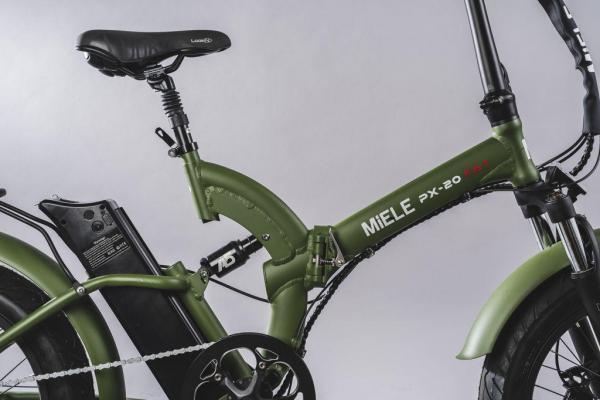 bici pieghevole elettrica ammortizzata