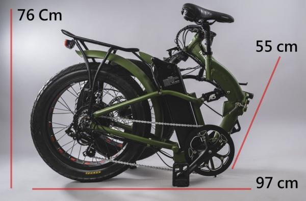 bici pieghevole elettrica chiusa misure