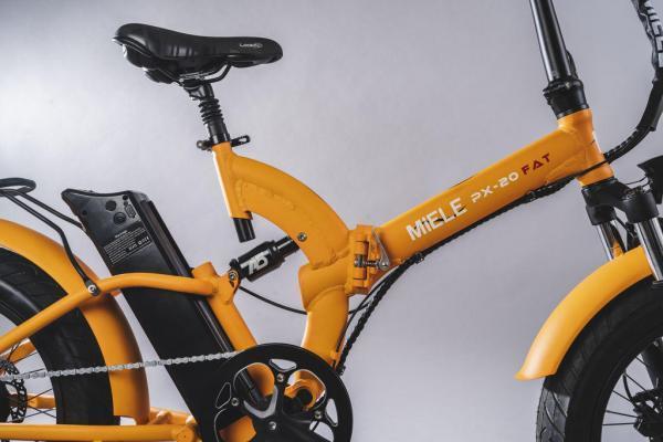 bicicletta elettrica pieghevole ammortizzata