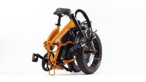 bicicletta elettrica pieghevole arancione misure