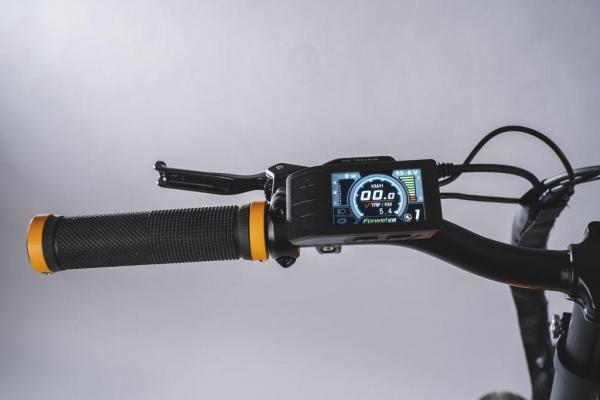 bicicletta elettrica pieghevole display colore