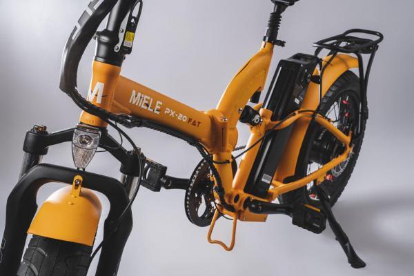 bicicletta elettrica pieghevole forcelle ammortizzate