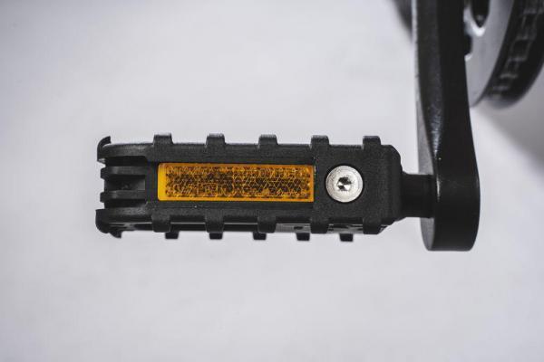 bicicletta elettrica pieghevole pedale aperto