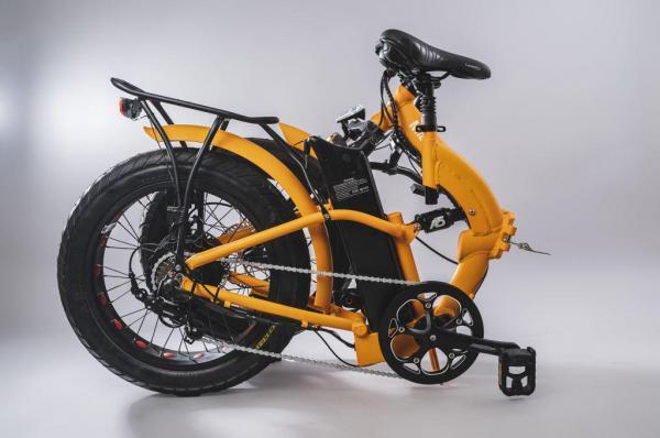 bicicletta elettrica pieghevole piegata misure