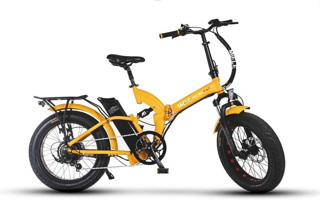 Bici Elettriche Pieghevoli Miele Px 20 Fat S Arancione Potente Motore 48v Potenza Da 250w A 500w Stesso Prezzo Batteria 48v 128 Ah Panasonic Scade