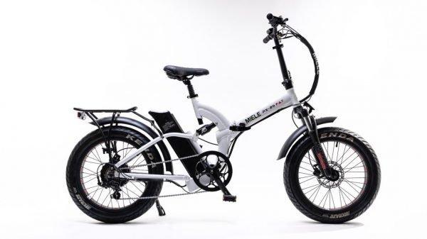 bici elettrica pieghevole bianca miele