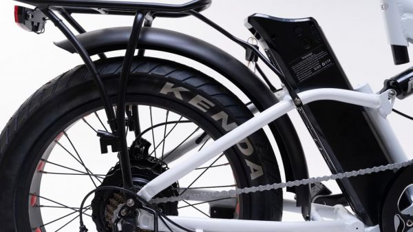 bici elettrica pieghevole bianca