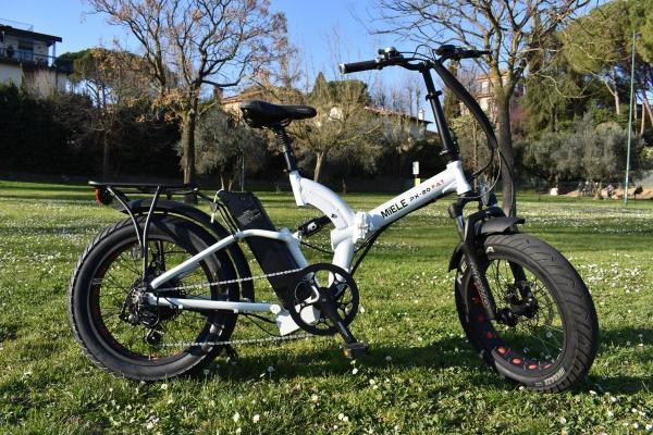 Bici elettrica pieghevole Bianco perla