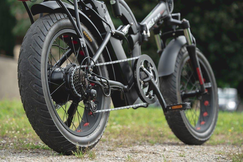 Bici Elettriche Pieghevoli Miele Px 20 Fat S Nero Opaco Potente Motore 48v Potenza Da 250w A 500w Stesso Prezzo Batteria 48v 128 Ah Panasonic