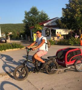 cane in bici elettrica