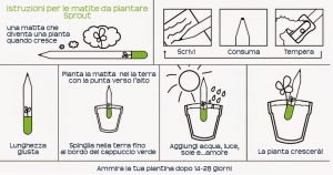 gadget ecologico aziendale | Matita Piantabile
