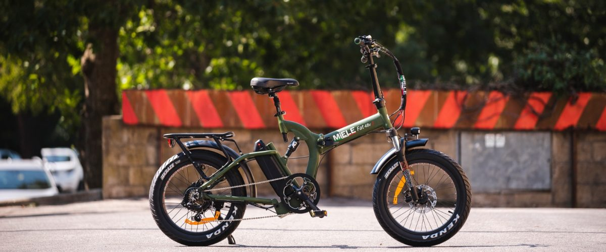 fat bike elettrica verde militare