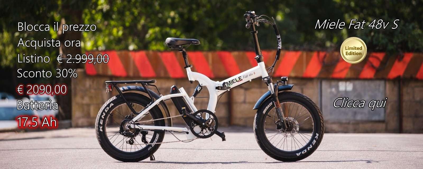 fat bike elettrica bianca pieghevole