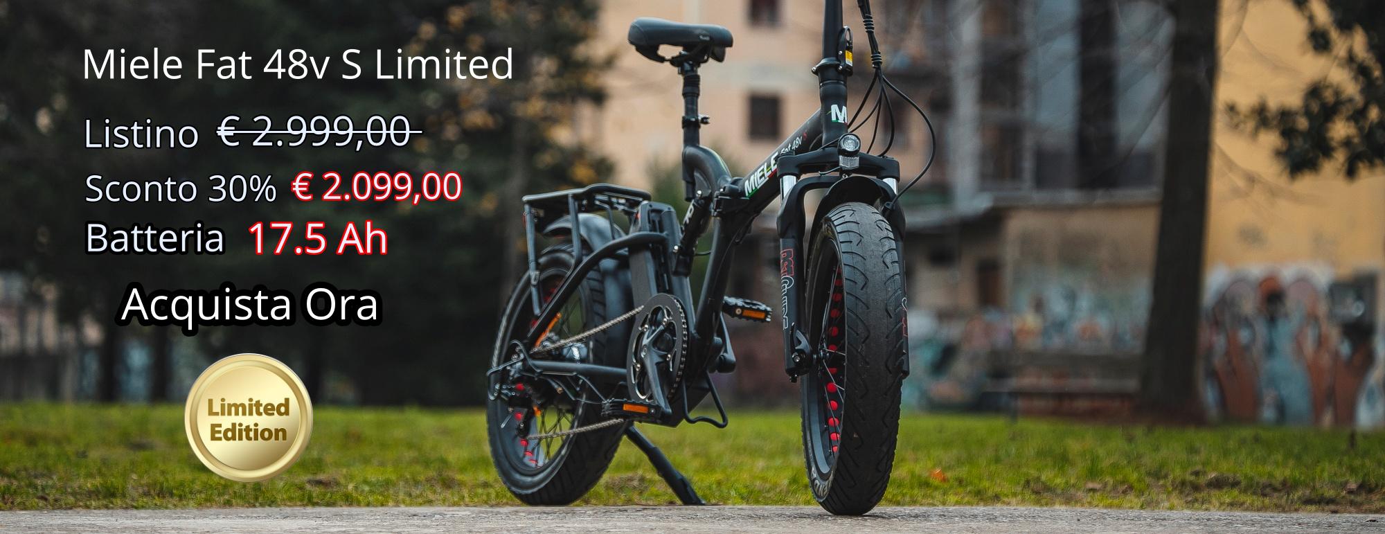 fat bike elettrica potente sconto 30%